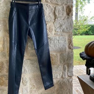 Free People Gorgeous Black Faux Leather Pants